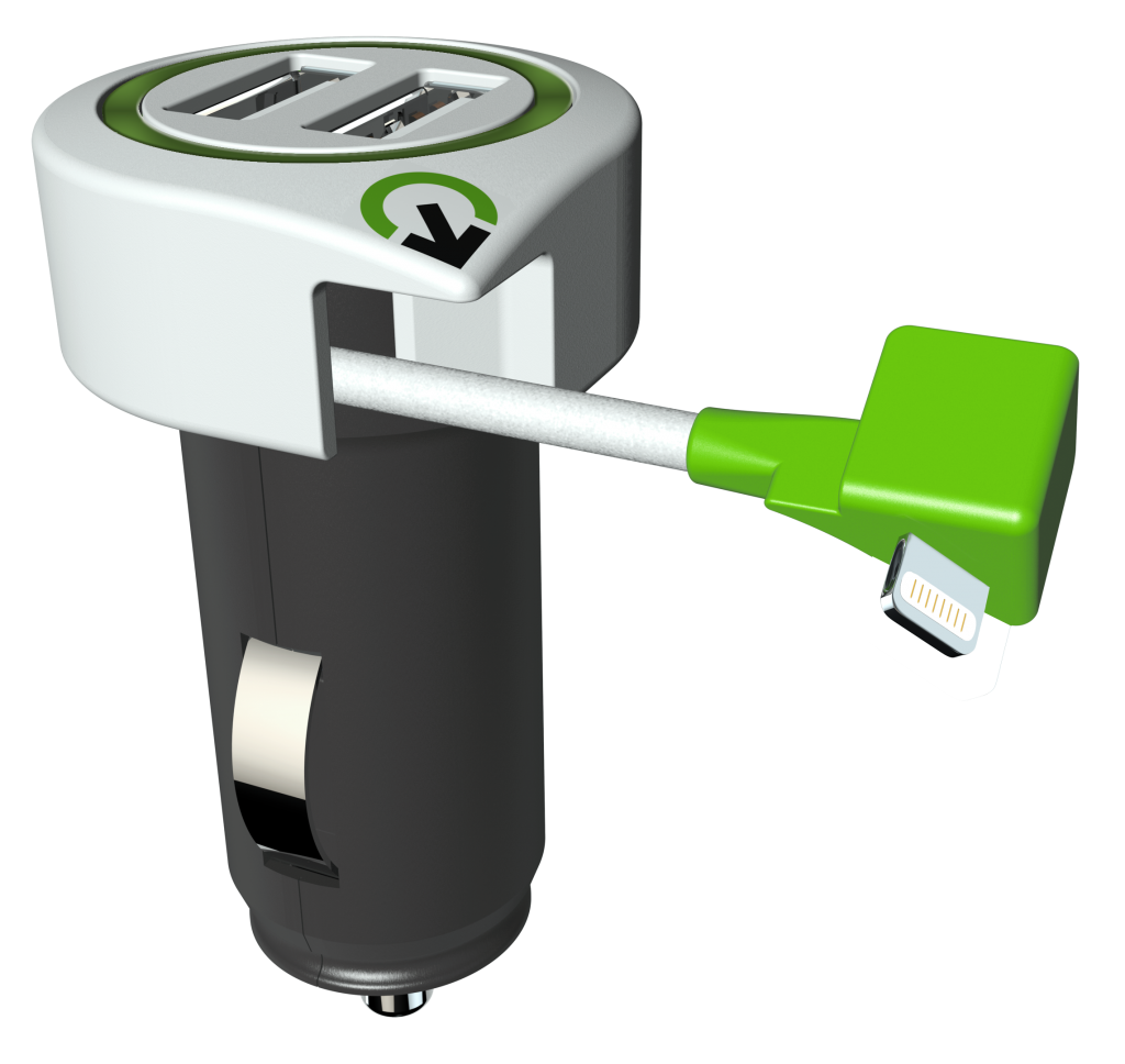 Triple USB Car Charger L